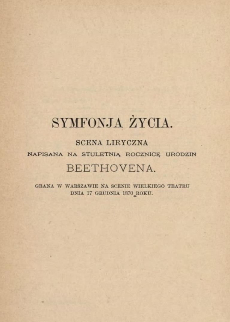 Deotyma, <i>Symfonia życia</i>, <i>Wybór poezji</i>, t. 2, Konstanty Trepte, Warszawa 1898, s. 95, Biblioteka Instytutu Badań Literackich PAN, F.579/2