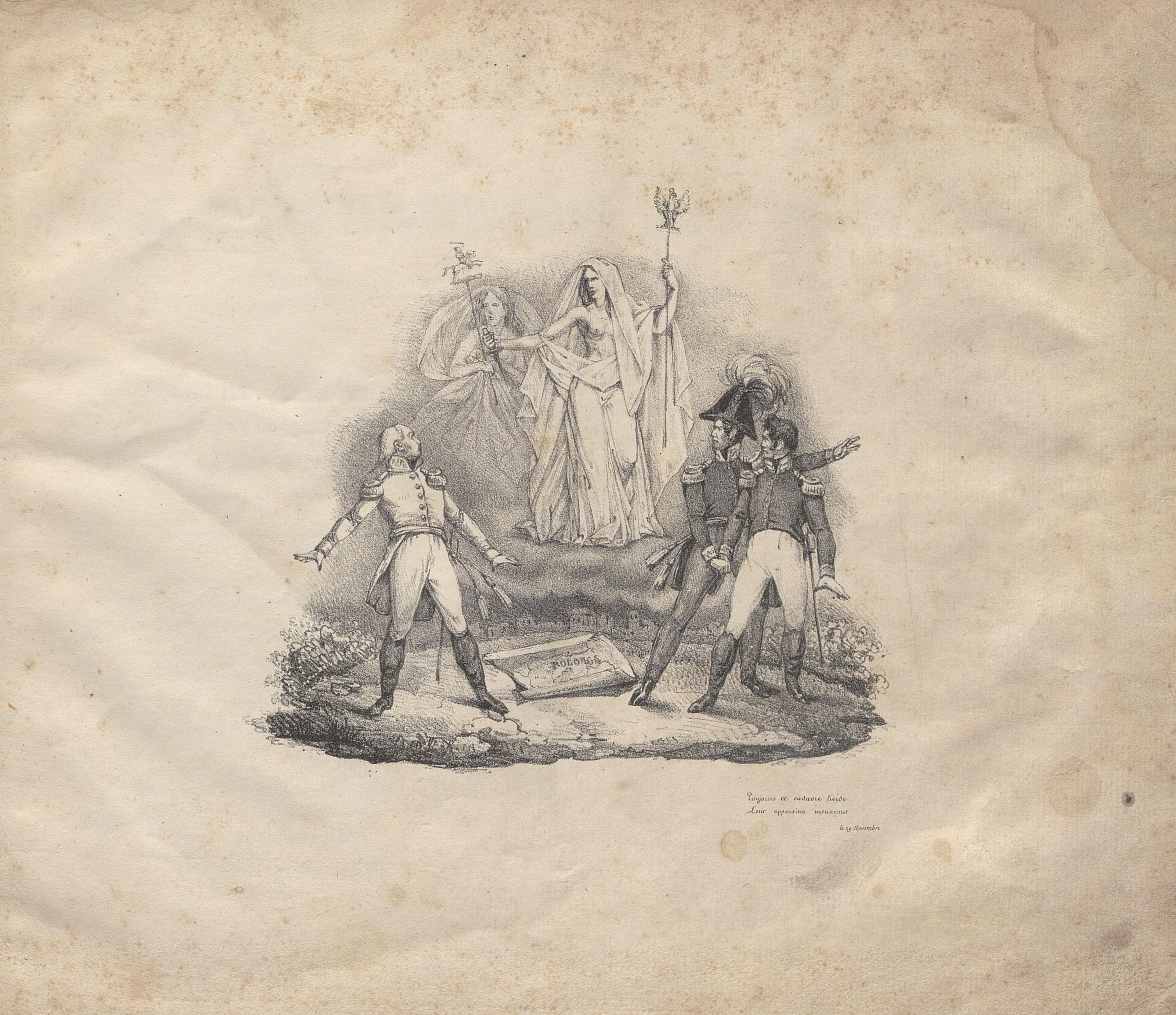 Ilustracja 2. Wojciech (Albert) Sowiński, <i>Chants de la révolution polonaise</i>, Louis Lemaître, Paryż ok. 1833, s. 3, Biblioteka cyfrowa Polona, BJ Muz. 7710 II